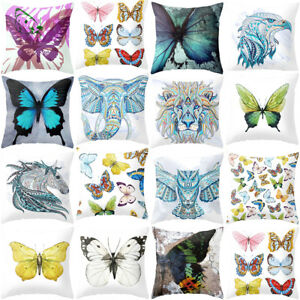 Am-BL-Coloured-Drawing-Butterfly-Elephant-Cushion-Cover-Pillow-Cases-Sofa-Deco