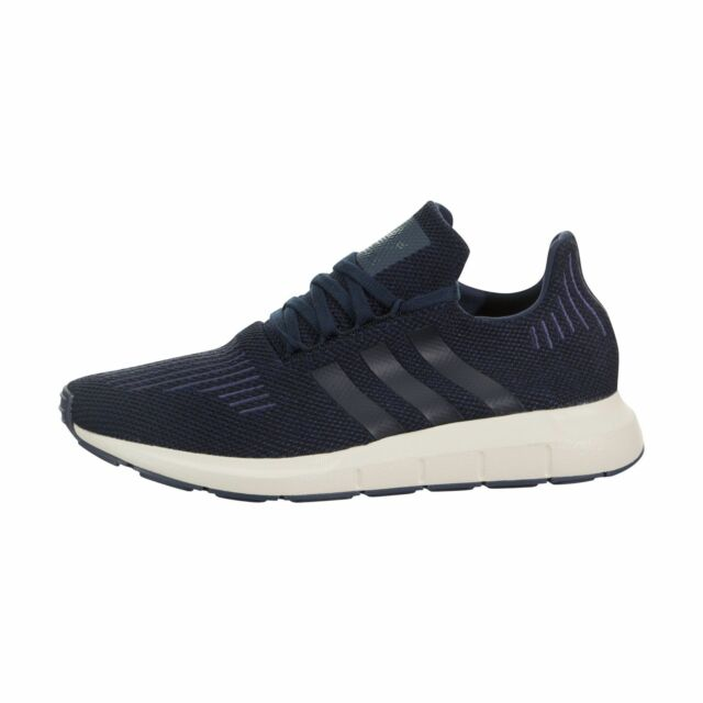 3dfd880a4 adidas Swift Run Mens Ac7165 Navy Trace Blue Knit Running Shoes Size ...