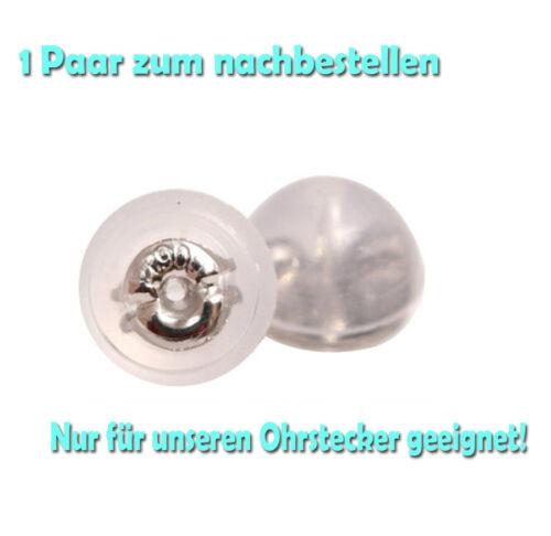 Platin Ohrstecker Brillant Diamant Single Pt900 SOLITÄR Schwarz Weiß auch Herren