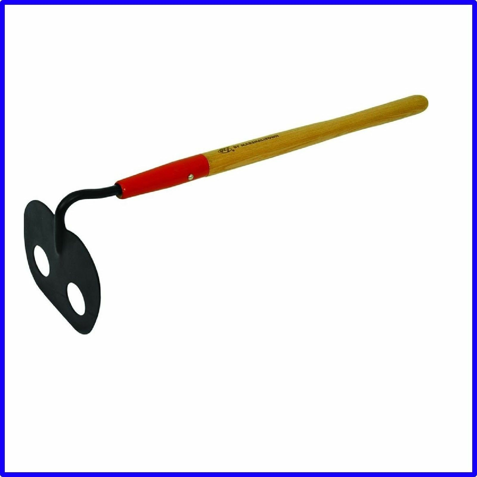 Kraft Tool BC229 6-1//2-Inch by 4-3//4-Inch Short Mortar Hoe with 21-Inch Wood Handle