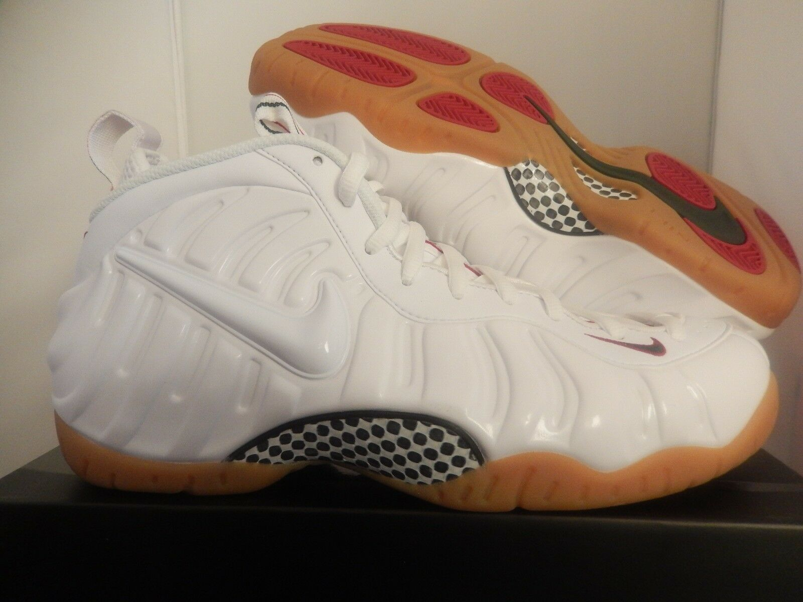 NIKE AIR FOAMPOSITE PRO WHITE-GYM [624041-102] RED-GREEN SZ 10 [624041-102] WHITE-GYM f999cb