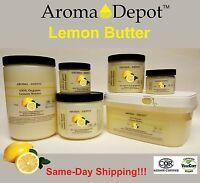 Lemon Butter Organic Cold Pressed Premium Quality 2 Oz 4 Oz 8 Oz 1 Lb 3 Lb Lot