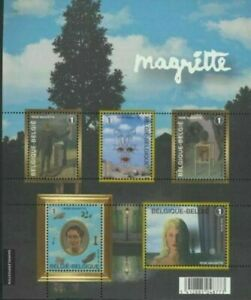 "BELGIQUE BELGIUM 2008  BL 151 **  RENE MAGRITTE     5 x ""1"" BEL   //"