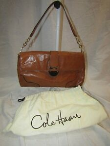 Image Is Loading Vintage Cole Haan Brown Leather Handbag With Dust