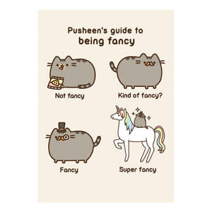 Image Is Loading PUSHEEN GUIDE TO BEING FANCY GREETING CARD BIRTHDAY
