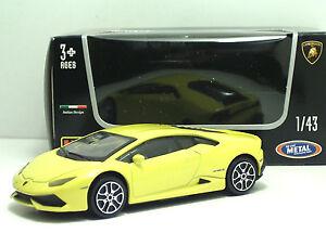 Bburago-30290-Lamborghini-HURACAN-Gialla-METAL-Scala-1-43