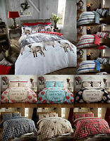 Brushed Cotton Flannelette Duvet Cover Warm And Cosy Quilt Cover Bedding Set