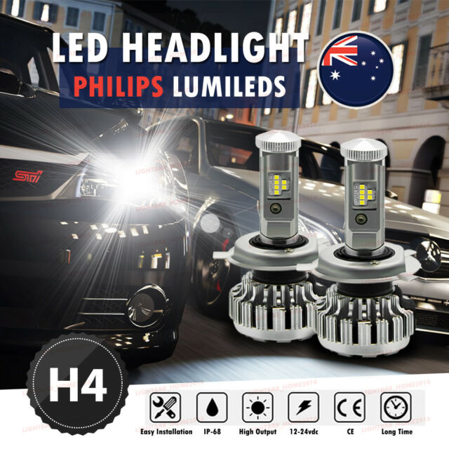 2x H4 PHILIPS 288W LED Light Beads Headlight H/L Beam Globes Bulb Upgrade 6000K