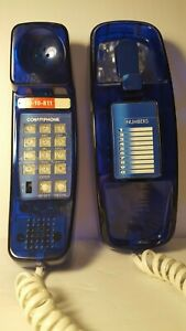 VINTAGE-CONAIR-BLUE-TRANSPARENT-PHONE-MODEL-SW306-RARE-GOOD-CONDITION-WORKS