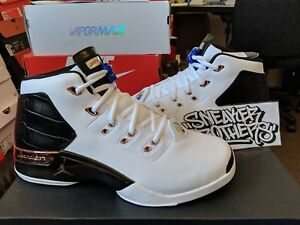 cb2b6087973 Nike Air Jordan Retro XVII 17 + OG Metallic Copper White Royal Black ...