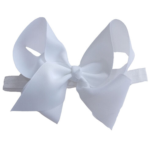 "6/"" Large Bow Hair Headband inch knot Baby Girls Ribbon Bows Kids Accessories"