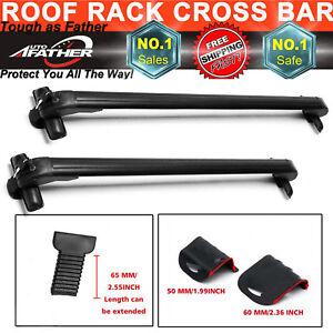 2x Anti Theft Car Roof Bars No Rails Lockable Rack Box For