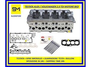 TESTATA-AUDI-VOLKSWAGEN-2-0-TDI-16V-MOTORE-BKD-BLB-BSY-GUARNIZIONI-BULLONI