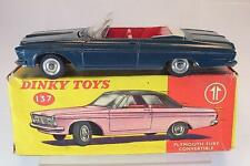 Dinky Toys 137 Plymouth Fury Convertible grünlich / blau in O-Box #5383