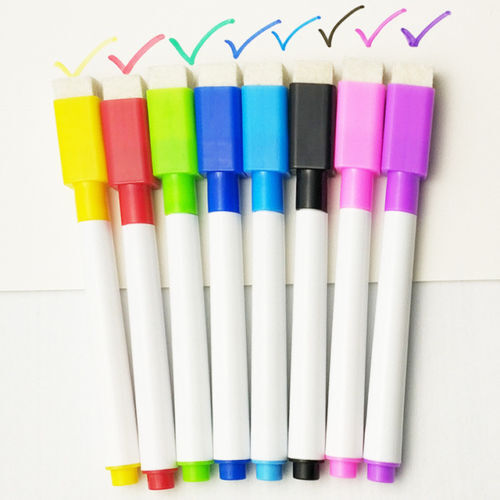 6//1colour set magnetic or non magnetic white board colour marker with eraser uk