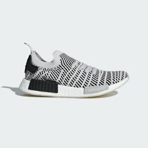 Details zu Herren Adidas Nmd R1 Stlt Primeknit Turnschuhe Grau Weiß Schwarz CQ2387