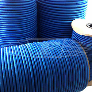 Blue 2mm Thick Elastic Bungee Rope Shock Cord Luggage Tie Down Trailer Boats Beautiful And Charming