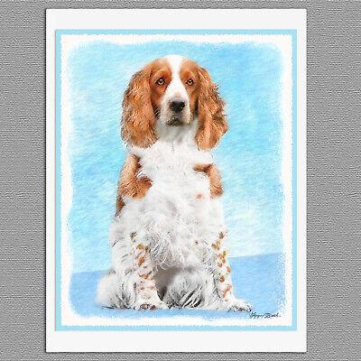6 English Springer Spaniel Blank Art Note Greeting Cards