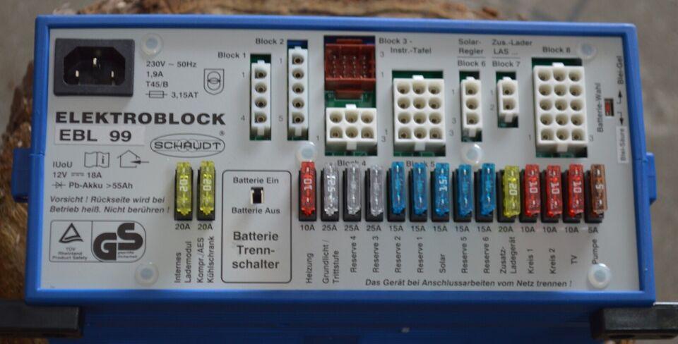 Elektroblok til autocamper 12 volt