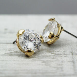 Women-18K-Gold-Plated-Love-Heart-12MM-Crystal-Lab-Diamond-Cutting-Stud-Earrings