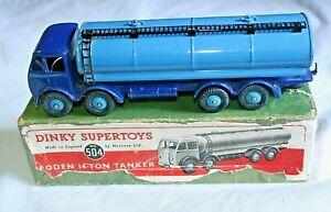 Dinky 504 Foden, citerne de 14 tonnes, flash bleu, bon dans la boîte originale