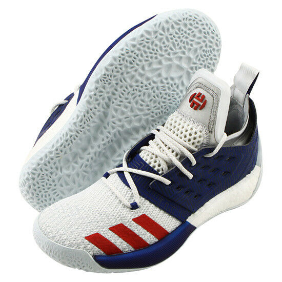 adidas Harden BTE 2 Men's Basketball Shoes NBA Shoes Casual White Blue AQ0026