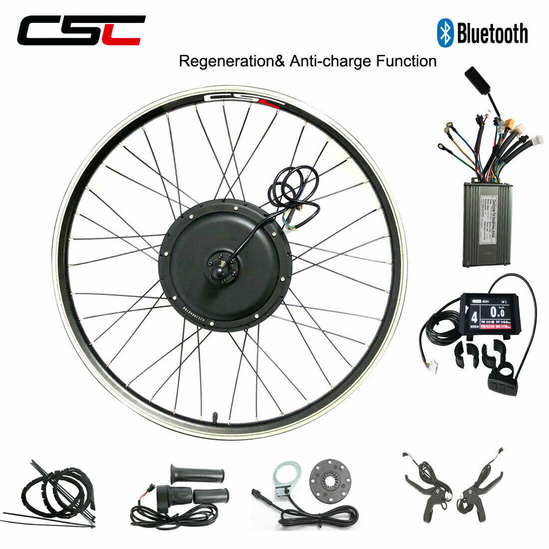 E bicicletta Electric Conversion Kit 26 500W 1000W 1500W KT LCD Regeneration 48V Ebicicletta
