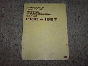 1987 honda civic crx oem electrical wiring diagram troubleshootingla foto se está cargando 1987 honda civic crx oem el diagrama de