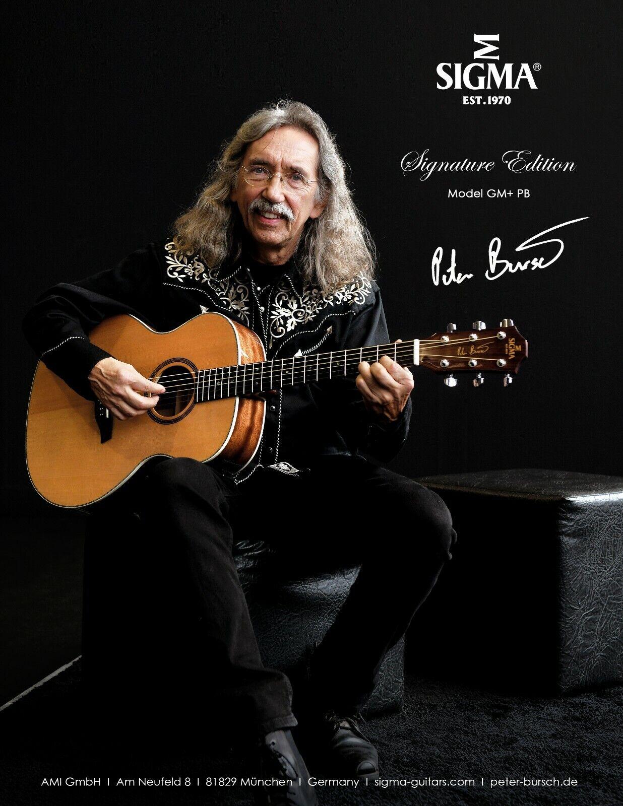 SIGMA Gitarre  Guitar GM+ PB Peter Bursch Signature NEU NEW  2019