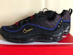 Details about Nike Air Max 98 Black Blue Amarillo CD1537 001 Airmax Mens Shoes Sneakers NIB