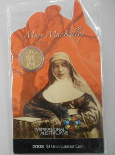 2008 Mary MacKillop $1 on card INSPIRATIONAL AUSTRALIANS  Highly sought after