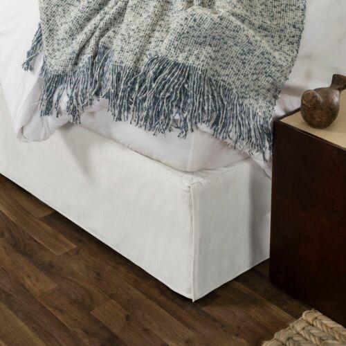 Modern Dust Ruffle Gavotte Home Velvet Tailored Bedskirt with Split Corner