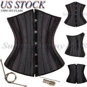 28-Spiral-Steel-Boned-Waist-Training-Plus-Size-Underbust-Corset-Shaperwear-Top
