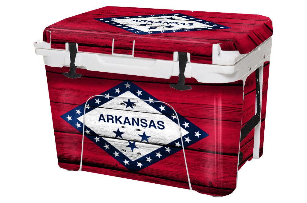 USATuff Custom Cooler Decal Wrap fits YETI Tundra 105qt FULL Arkansas Flag WD
