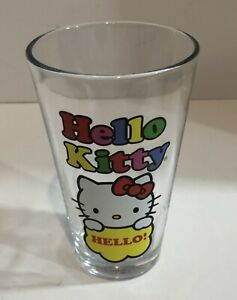 SANRIO-HELLO-KITTY-DRINKING-GLASS-6-034-TALL-Colorful