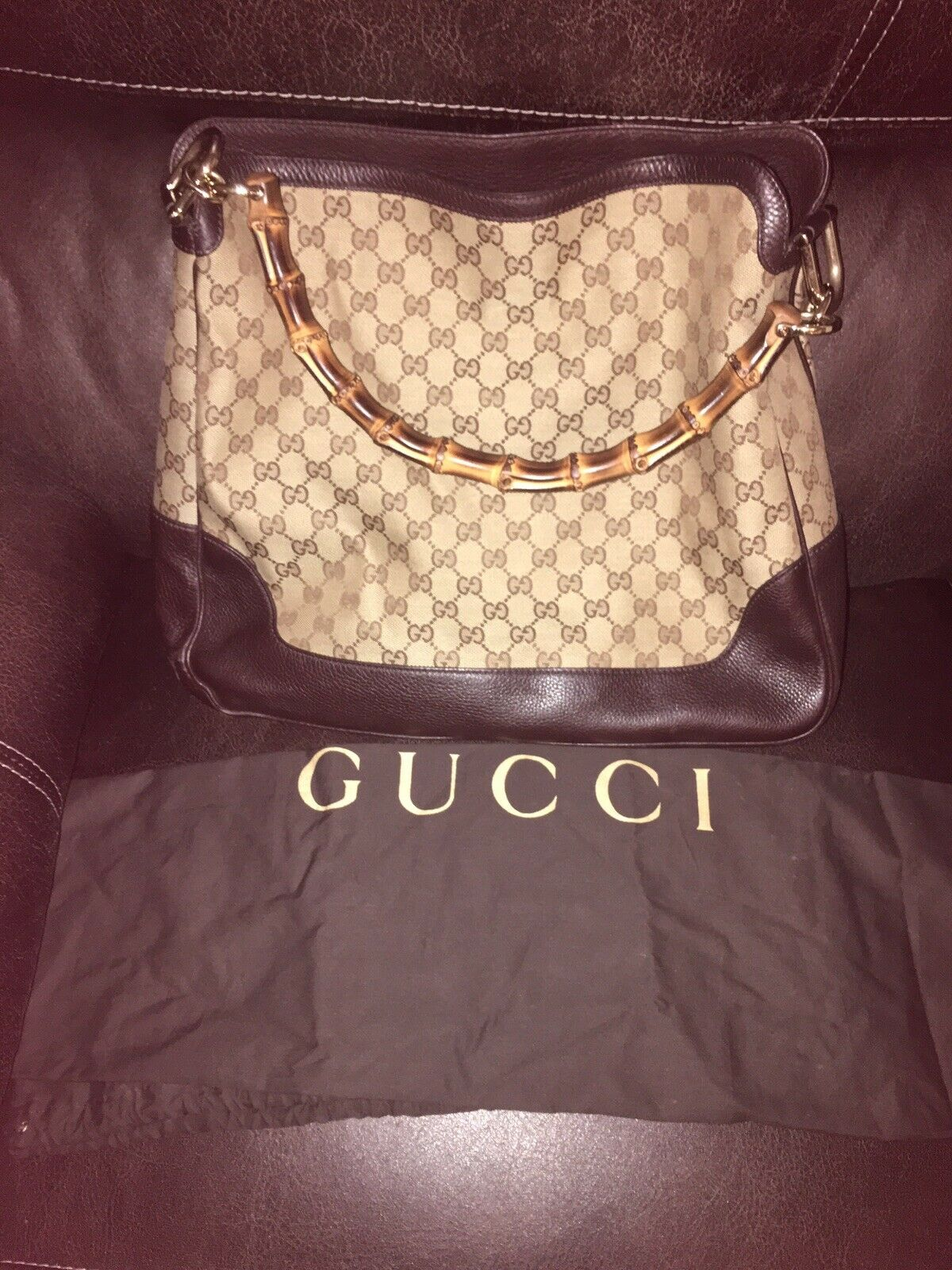 WOMENS GUCCI DIANA BAG/PURSE WITH BAMBOO HANDLE, … - image 2
