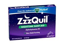 ZzzQuil Nighttime Sleep-Aid LiquiCaps 24 LiquiCaps (Pack of 3)