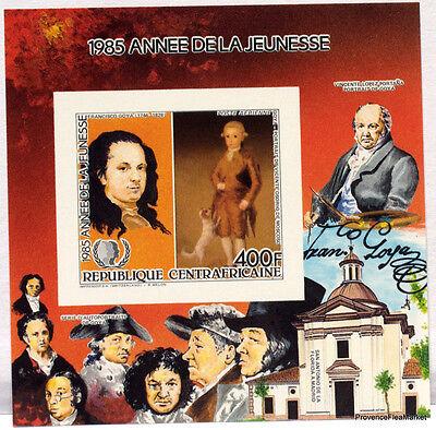 Briefmarken Zentralafrikanische Republik Block Bogen Goya Briefmarke Nicht Gezahnt Bd58 Spezieller Kauf