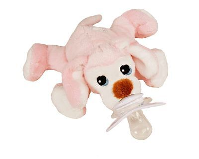PACI PLUSHIES PLUSH BABY PACIFIER HOLDER PIXIE PUPPY