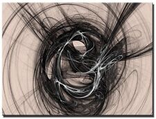 Single Total 65x45cm Graphic Design CANVAS ABSTRACT  LARGE  ART EMO Black/Beige