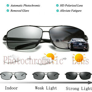 1c87fe95415 Image is loading Photochromatic-Transition-Lens-Womens-Mens-Polarized- Sunglasses-Driving-