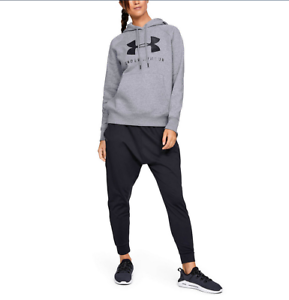 Womens Under Armour Rival Fleece Sportstyle Sleeve Graphic Hoodie NEW 2XL