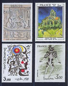FRANCIA-FRANCE-1979-MNH-SC-1626-1629-Fine-Art