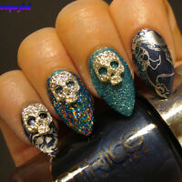 5Pcs/Set Nail Art Charms Dazzling Skull Mask Design Studs 3D Nail Decoration DIY