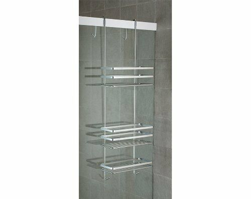 Hanging Bathroom Shower Shelf Organizer Shampoo Storage Caddy Steel Water NoRust