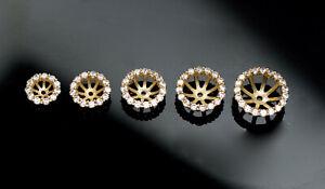 14K-Solid-Yellow-Gold-Created-Diamonds-Bridal-Halo-Stud-Earrings-Jackets