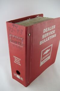 OEM-1992-1994-Chevrolet-Dealer-Service-Bulletins-RECALLS-Camaro-Corvette-Trucks