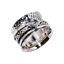 Solid-925-Sterling-Silver-Handmade-Wide-Band-Fidget-Spinner-Ring-Meditation-Ring thumbnail 6