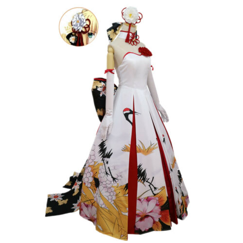 FGO Fate Grand Order Saber Party Wedding Maxi Long Dress Cosplay Costume