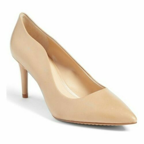 Vince Camuto Women/'s Jaynita Leather Pointed-Toe Dress Pumps Nude